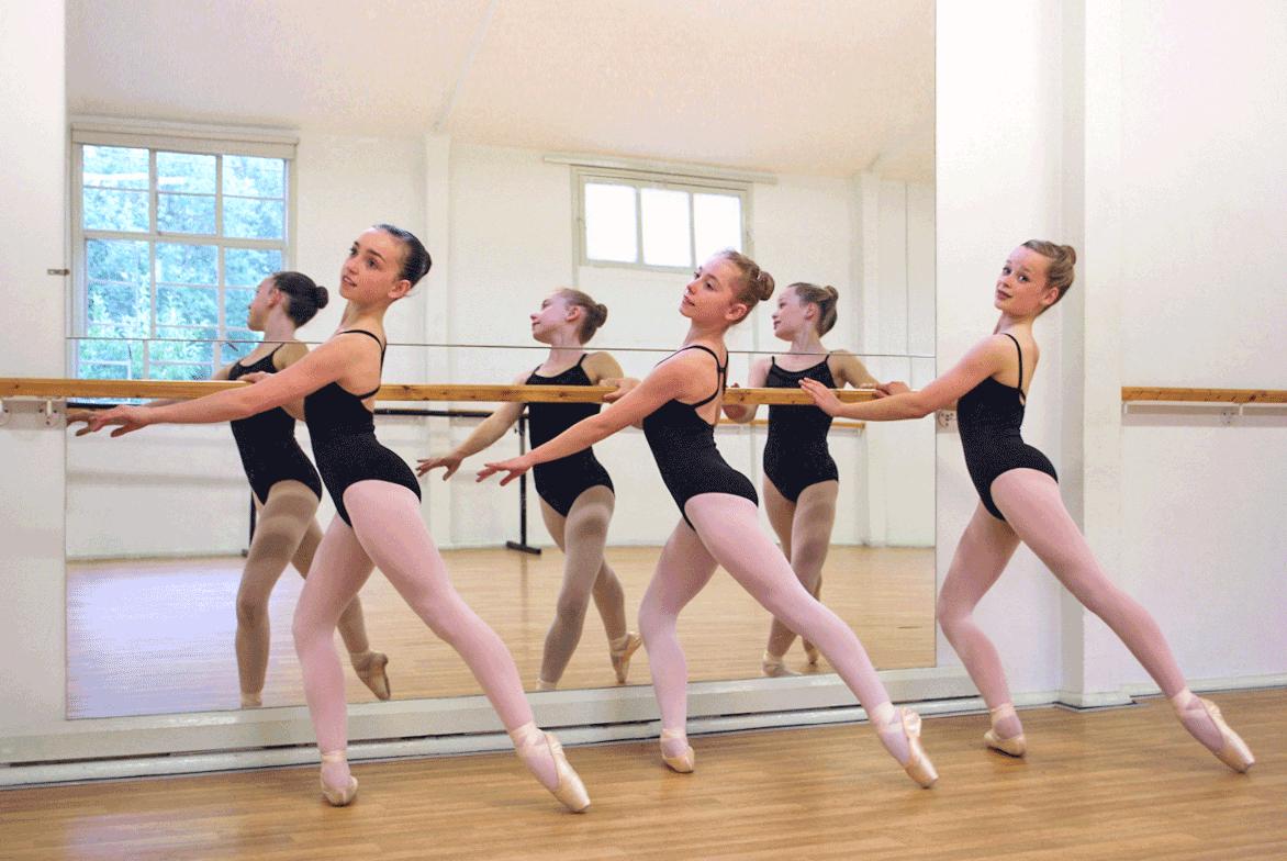 Ballet dancers in class at JACAD in Wokingham